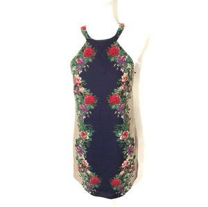 One Heart Clothing Sheath Dress Small Floral